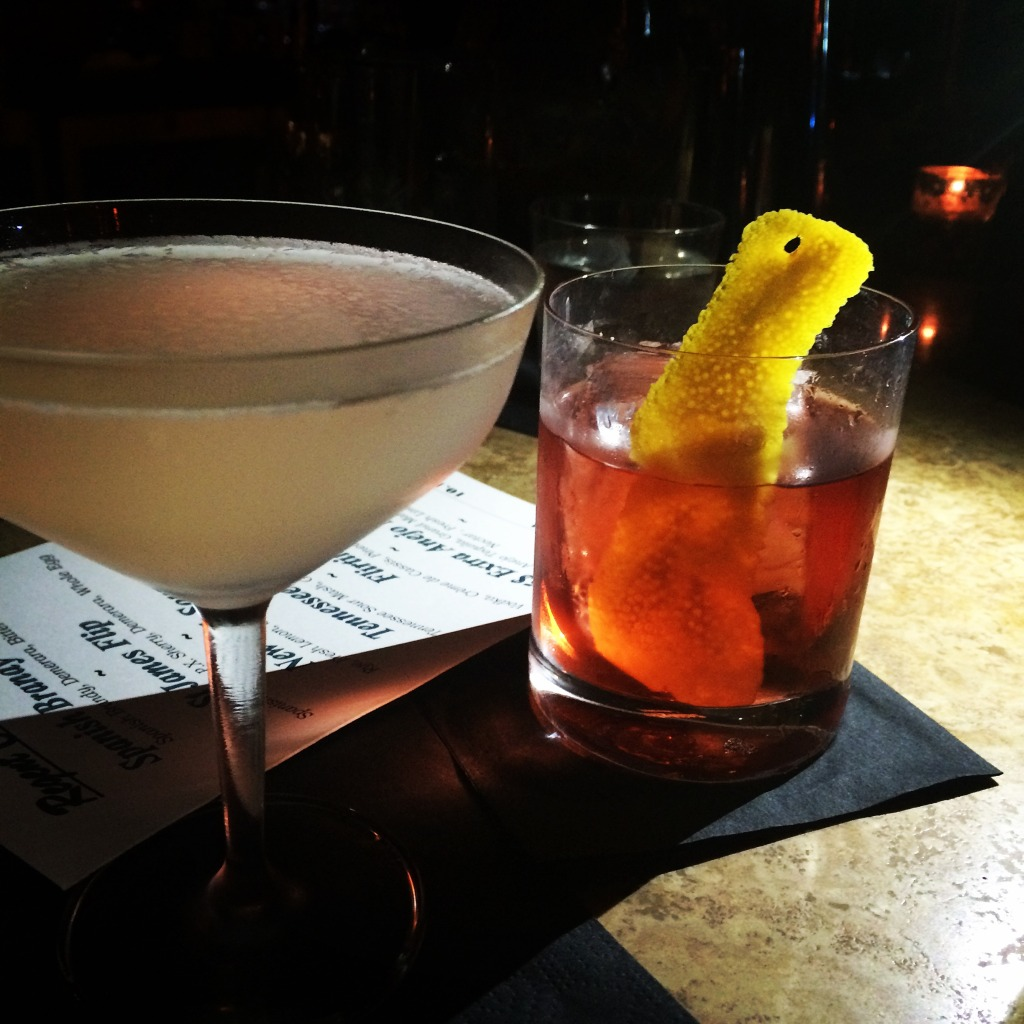 Gin Gimlet and Negroni at Regent Cocktail Club