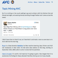 Fred Wilson's [A VC] Musings of a VC in NYC – Subscribe to this excellent blog now!