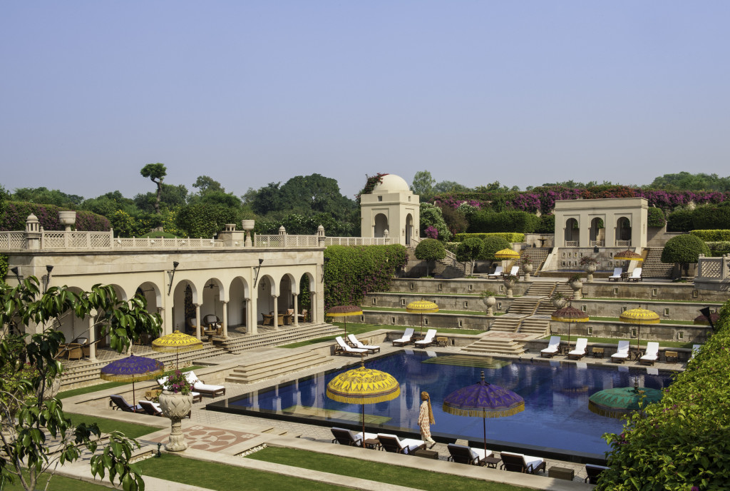 swimmming Pool Oberoi Amarvilas Agra India Luxury travel