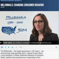 Millennials: Changing Consumer Behavior (Macroeconomic Insights from Goldman Sachs)