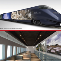 Japan's newest bullet train: a traveling gallery inspired by anime