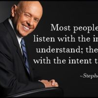 Being a Good Listener is a Most Important Trait