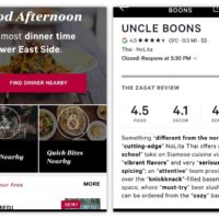 The new Zagat app is Gorgeous: quality of the reviews, not good