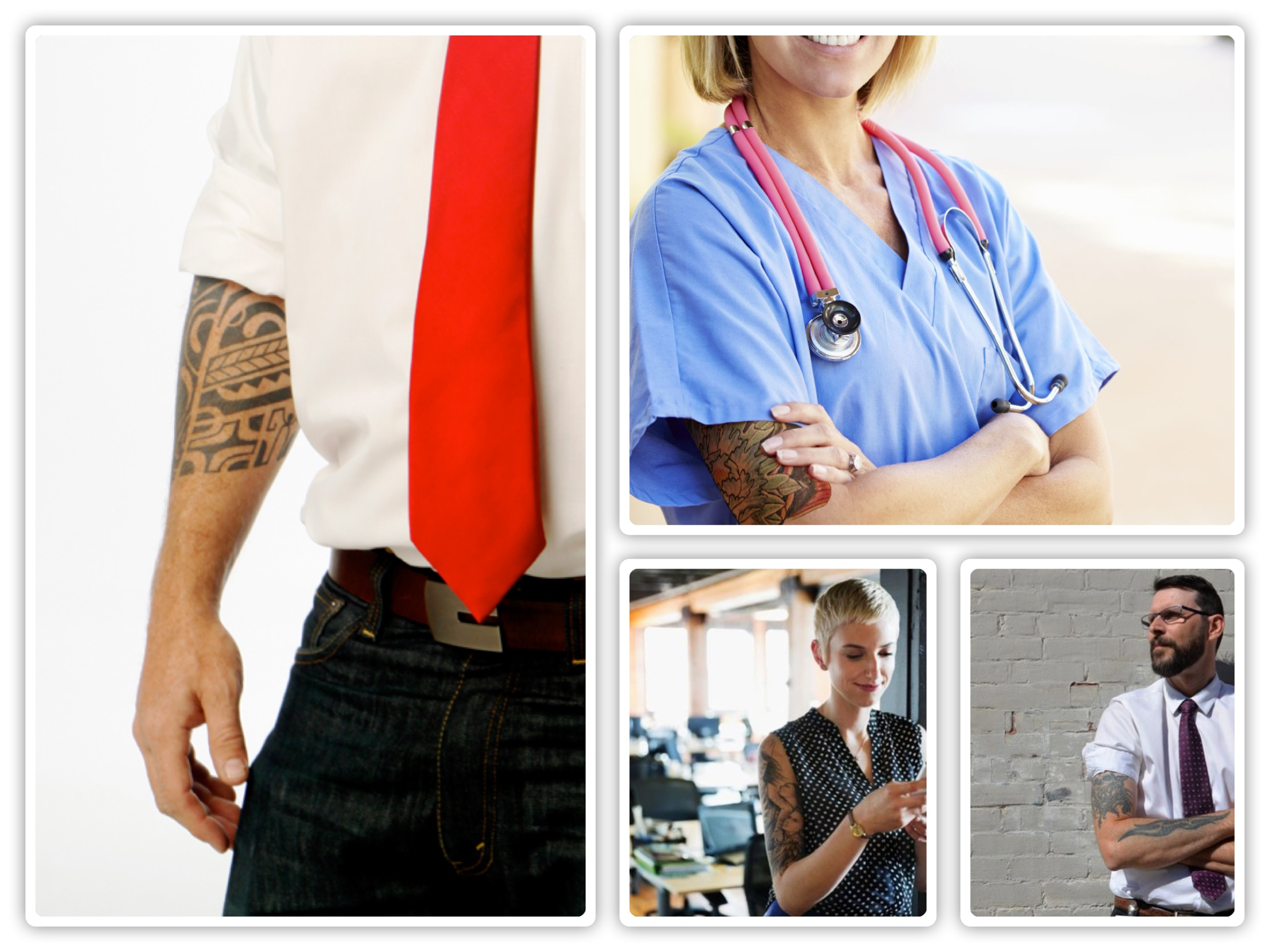 tattoos in a work place It's your body and you have the right to decorate it anyway you like, but your expression of individuality could cost you in the workplace – in job interviews and in your interactions with.