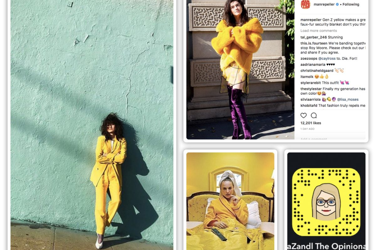 GEN Z YELLOW Suddenly All The Rage: Why? Snapchat Of Course!