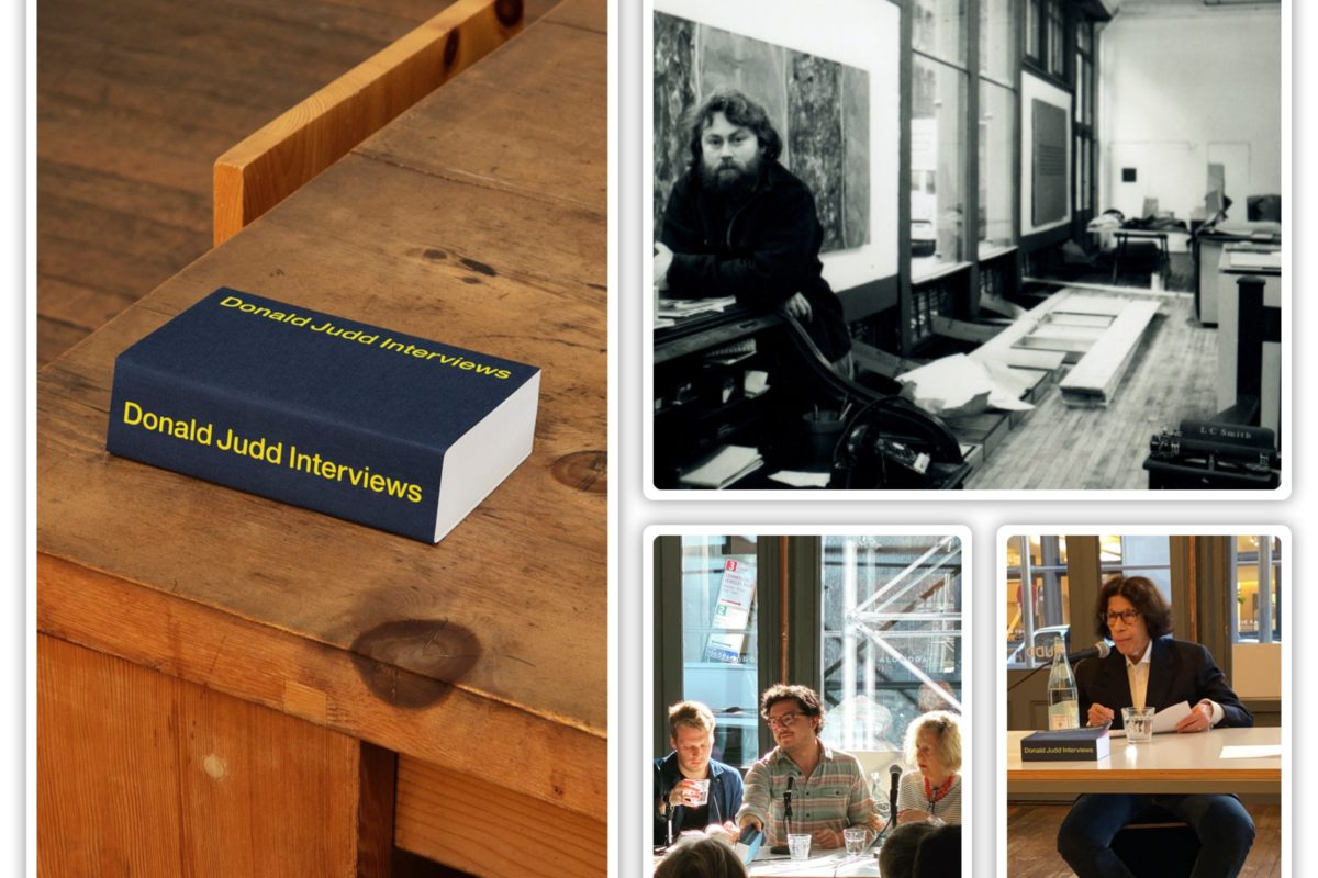 Donald Judd Interviews: Blunt, Scathing And  Brilliant!